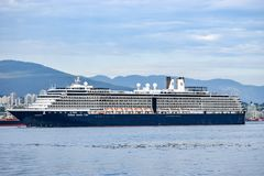 Holland America Line Noordam Cruise Ship sailing out of Vancouver, British Columbia royalty free stock photography