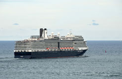 Holland America ship leaving port Royalty Free Stock Images