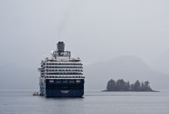 Holland America Ship Sitka Harbor. The Holland America ship Westerdam in Sitka Harbor Royalty Free Stock Image