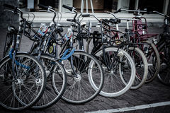 Holland, Amsterdam, bicycles parking Royalty Free Stock Photo
