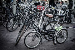 Holland, Amsterdam, bicycles parking Stock Photo