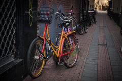 Holland, Amsterdam, bicycles parking Stock Photography