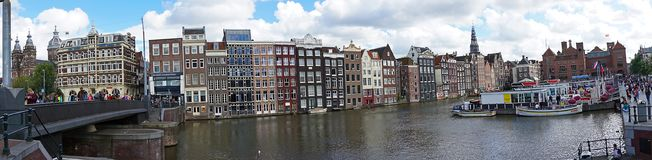Holland, Amsterdam, city views, navigation channels and monuments. Amsterdam, city views, navigation channels and monuments stock images