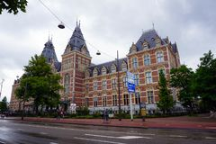Holland, Amsterdam, Stadtansichten, Navigationskanäle und Monumente lizenzfreie stockfotos