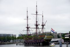Holland, Amsterdam, The National Maritime Museum Het Scheepvaartmuseum, Panoramic Photo Royalty Free Stock Image