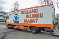 Holland Blumen Markt Truck At Amsterdam The Netherlands.  stock photos