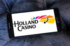 Holland Casino logo. Logo of Holland Casino on samsung mobile. Holland Casino has the legal monopoly on gambling in the Netherlands, and has fourteen casinos Stock Image