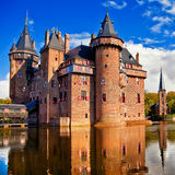 Holland castle on water de Haar Stock Image