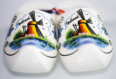 Holland clog. Front view of a pair of holland clogs Stock Photos