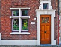 holland drzwiowy okno Obraz Stock