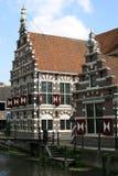 Holland dwuokapowi domy nadepnął Obrazy Royalty Free