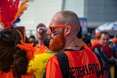 Holland fans at the  2014 FIFAWorld Cup Stock Photography
