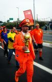 Holland fans at the  2014 FIFAWorld Cup Royalty Free Stock Images