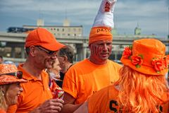 Holland fans at the  2014 FIFAWorld Cup Stock Image