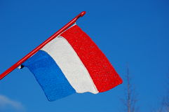 Holland flag. The flag from Holland showing red white and blue Royalty Free Stock Photography
