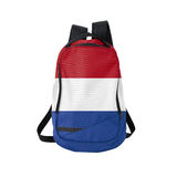 Holland flag backpack isolated on white Stock Images