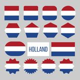 Holland Flag Collection Figure Icons Set Vector vector illustration