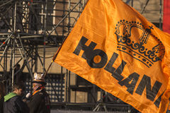 Holland flag in Kings day Royalty Free Stock Photos