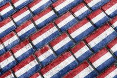 Holland Flag Urban Grunge Pattern foto de stock royalty free