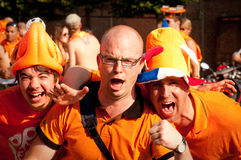 Holland football fans Stock Image