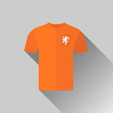 Holland Football Jersey Flat Icon Royalty Free Stock Photos