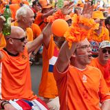 Holland football team supporters Stock Photo