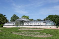 Holland greenhouse of agave in park of the golden head in Lyon Stock Image