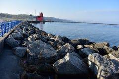 Holland Harbor Lighthouse photo libre de droits