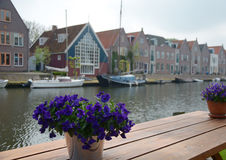 Holland. Harbor in the Netherland, South Holland Royalty Free Stock Photo