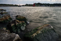 Holland Harbor. From the pier at Holland State Park, Holland, Michigan Royalty Free Stock Images