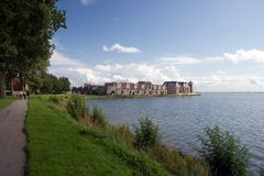 Holland-Hoorn (Cape Hoorn). A shot with this city on the background Stock Images