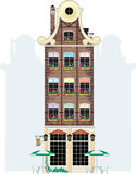 Holland house. Brown holland house. Raster and Vector Royalty Free Illustration