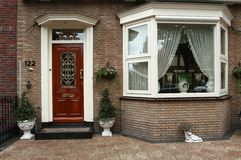 Holland house. Detail of holland house in Volendam Royalty Free Stock Images