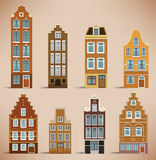 8 Holland Houses Stock Photo