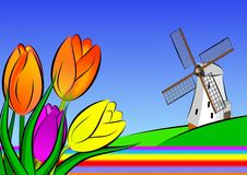 Holland illustration Royalty Free Stock Images