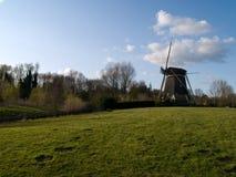Holland landscape. Holland Dutch landscape with windmill stock photo