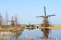holland młyny meandrują drewnianego Obraz Stock