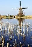 holland młyny meandrują drewnianego Zdjęcia Stock