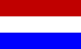 Holland-Markierungsfahne Lizenzfreies Stockfoto