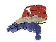 Holland metallic map Stock Images