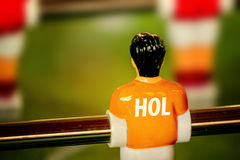 Holland National Jersey on Vintage Foosball, Table Soccer Game Royalty Free Stock Photo
