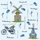 Holland Netherlands stéréotype le modèle Illustration Libre de Droits