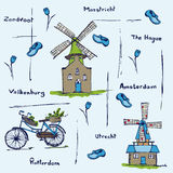 Holland Netherlands stereotypes pattern Stock Images