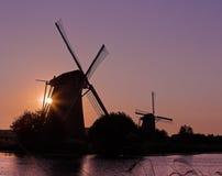 Holland no por do sol fotografia de stock