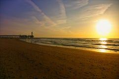 Holland pier Scheveningen de Obrazy Royalty Free