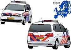 Holland Police Car Royalty-vrije Stock Foto