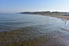 Holland& x27; praia da areia de s imagens de stock royalty free