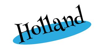 Holland rubber stamp Royalty Free Stock Photo