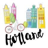 holland Símbolos culturais e da excursão ilustração royalty free