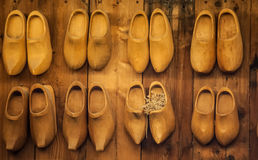 Holland's wooden shoes Stock Images